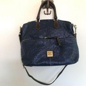 Authentic dooney & bourke navy blue Ostrich purse